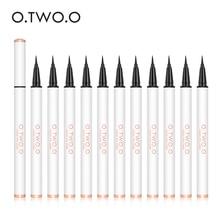 O.TWO.O 12pcs/set Black Color Eyeliner Waterproof Dry Fast Eyes Makeup Not Smudge Lasting Makeup Kit