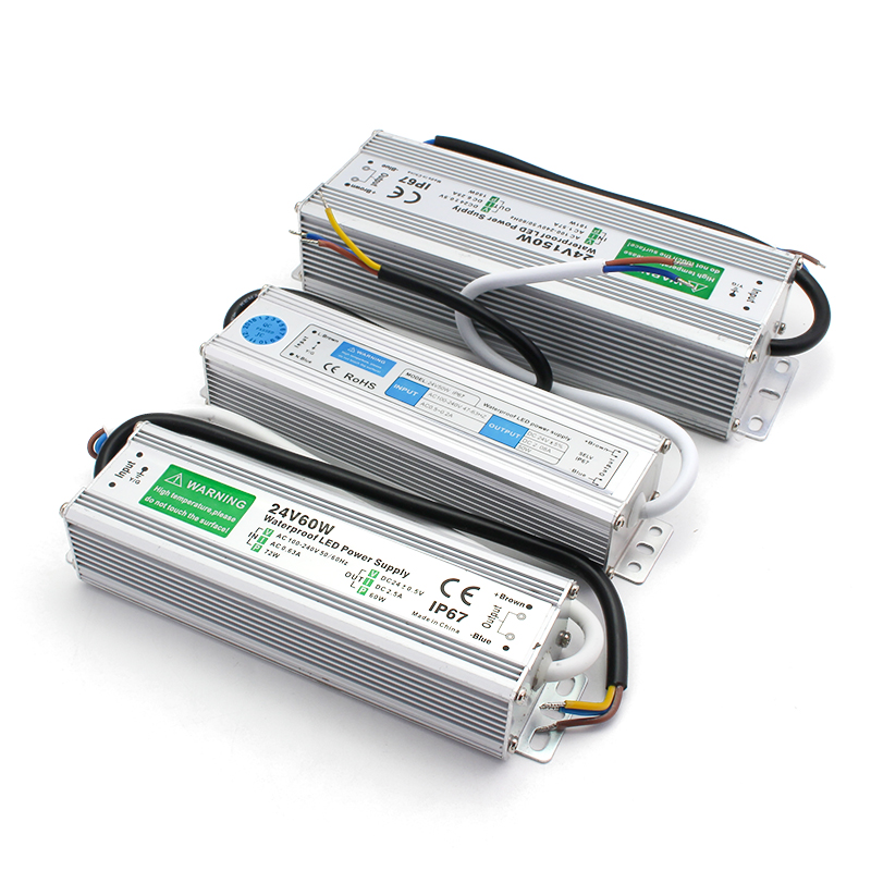 IP67 Led-treiber AC DC 24V Netzteil 220V ZU 24V LED Beleuchtung Transformator 10W 15W 20W 25W 30W 36W 45W 50W 80W 100W 150W 250W