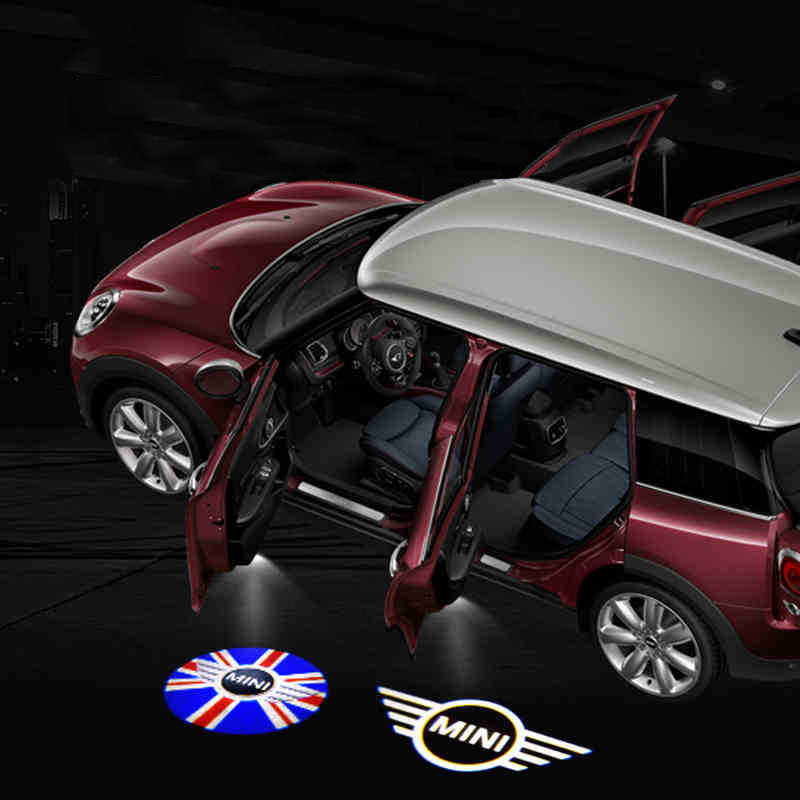 Car Door Welcome Light 2Pcs Car LED Door Light compatible with Mini Cooper JCW R57 One S R50 R53 R56 R60 F55 F56 R58 R59 Clubman Countryman Paceman Works Projector Welcome Light Color : 5