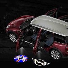 2 uds coche Luz de bienvenida para puerta Logo LED humor proyector para Mini Cooper R55 R56 R60 F54 F55 F56 F60 estilo Accesorios
