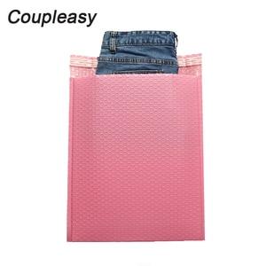 Image 2 - 50 ピース/ロットポリバブル封筒ピンク便包装袋自己シールクーリエバッグ防水無料バッグメーラー