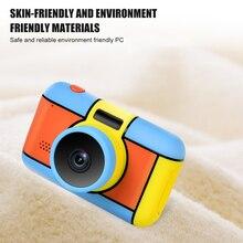 Детская цифровая камера селфи перезаряжаемая камера игрушка 2,4 дюймов HD экран Видеокамера подарок со вспышкой светильник для детей Для мальчиков и девочек