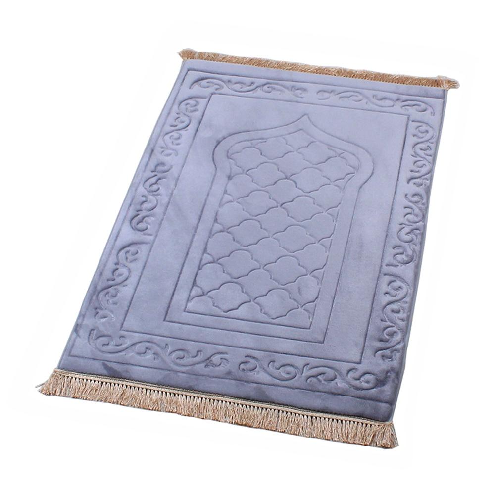 Muslim Prayer Rug Islamic Carpet Mat Tapis De Priere Braided Mats Vintage Pattern Rug Islam Eid Rugs Tassel Decor Gift Blanket