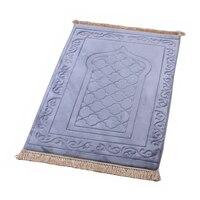 Muslimischen Gebet Teppich Islamischen Teppich Matte tapis de priere Geflochtene Matten Vintage Muster Teppich Islam Eid Teppiche Quaste Dekor Geschenk decke