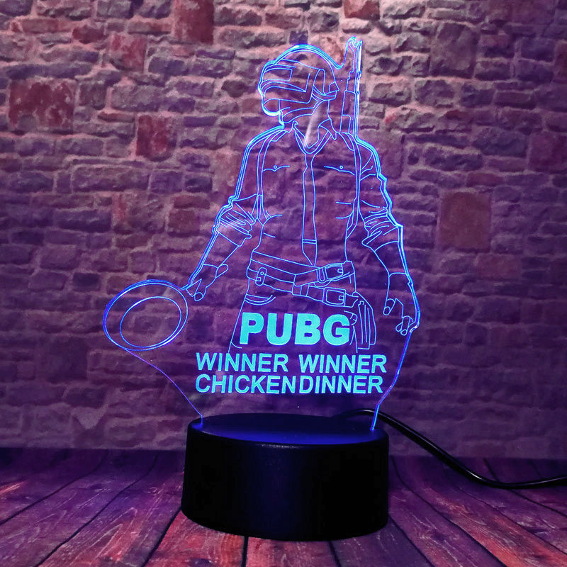Llama Aniaml Figure 3D Illusion Led Lamp LED 7 Colors Changing Nightlight PUBG <font><b>APEX</b></font> Battle Royal Figurines Model <font><b>Toys</b></font> image