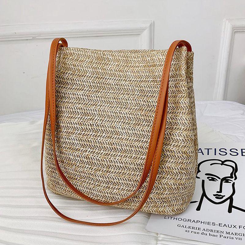 Women Bohemia Straw Bag Woven Round Rattan Shoulder Bags Crossbody Summer Beach Bags /BY