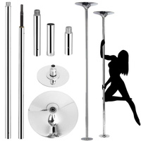 45mm Professional Golden Stripper Pole Dance Spin Pole Removable Home Fitness Exercise Training Pole D POLE Kit Freeshipping