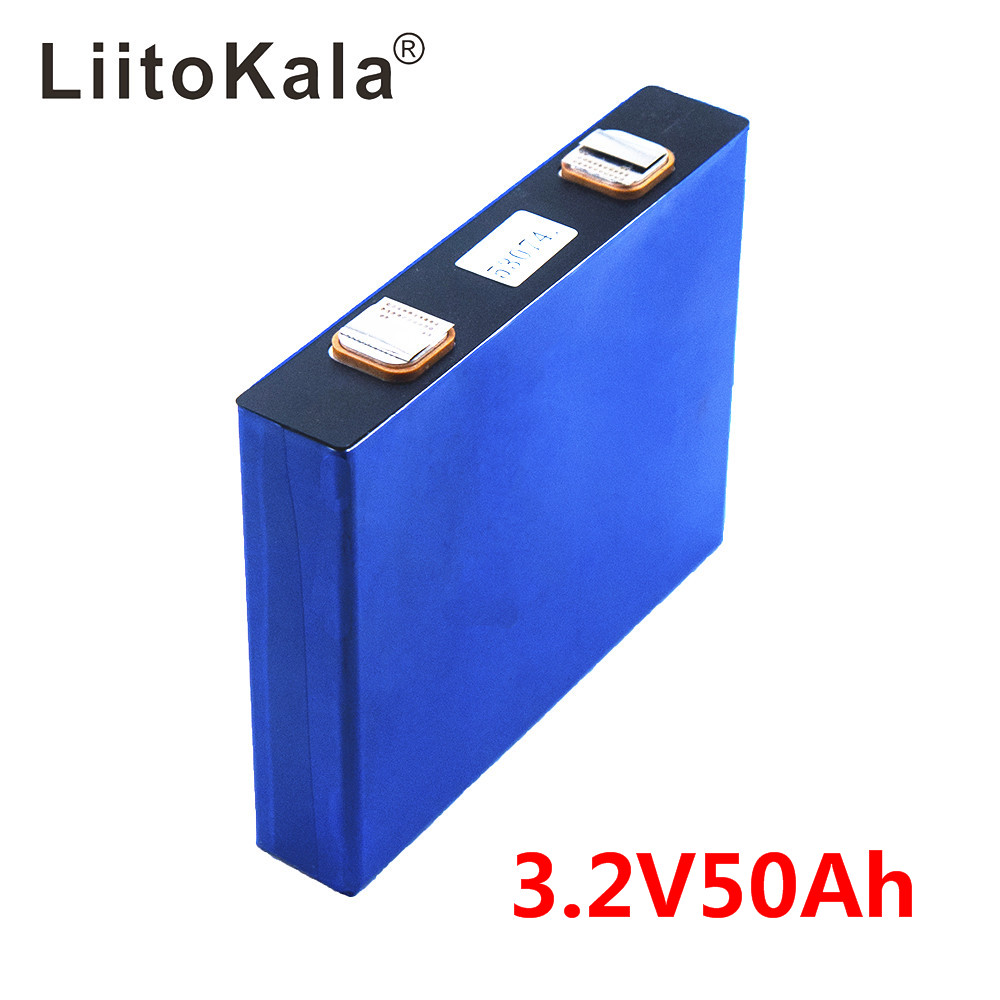LiitoKala 3.2v 50Ah LifePo4  Battery Lithium 150A 3C High Drain For Diy 12V 24V Solar Inverter Electric Vehicle Coach Golf Cart