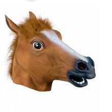 Creative Halloween Mask Prom Latex Horse Head Mask Animal Headgear Horse Mask Halloween Hol