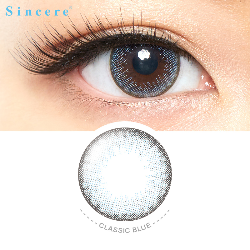 Classic Blue Color Contact Lenses For Eyes Vision Correction Health Care Monthly Throw 1lens