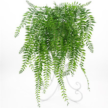 Wedding Landscape Home Decor DIY Wall Hanging Fake Vine Artificial Plant Office Simulation Garden Party Persian Leaf Hotel Shop(China)