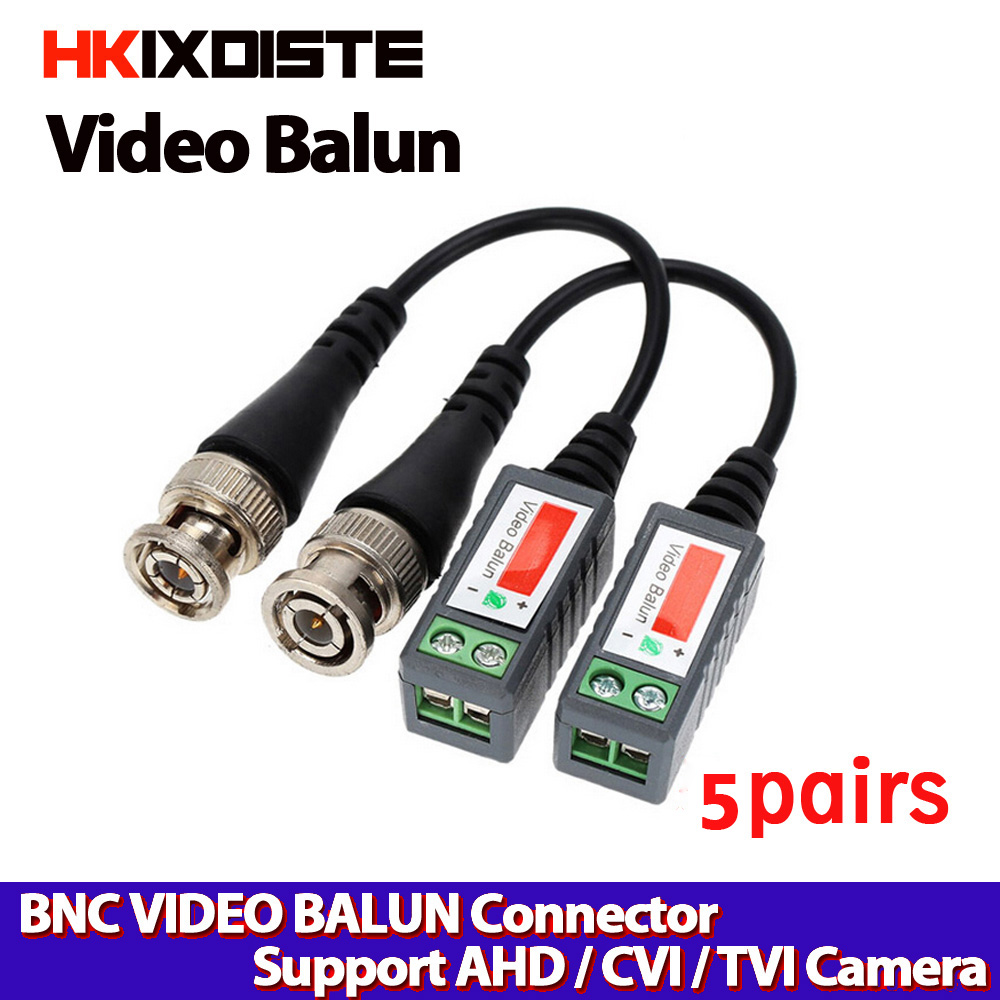 New 4 pairs Mini Passive Video Balun Coaxial BNC to UTP Cat5//6 for CCTV Camera