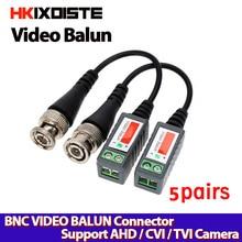Coassiale CAT5 Macchina Fotografica CCTV Passivo BNC Video Balun UTP Transceiver Connettore 2000ft Distanza Cavo Ritorto