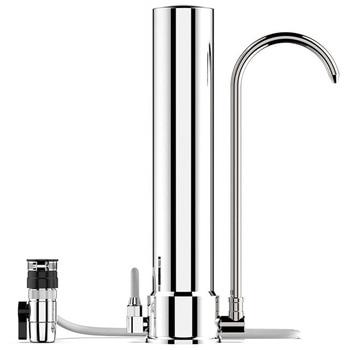 Water Filter Desktop Stainless Steel Water Purifier Faucet Healthy Ceramic Cartridge Kitchen Water Tap Filter