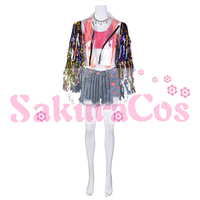Anime Harley Quinn Cheerleaders Dress Cosplay Costume Women Adult Sexy Uniforms H