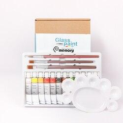 Memory 12 Colors Acrylic Glass Paints Set