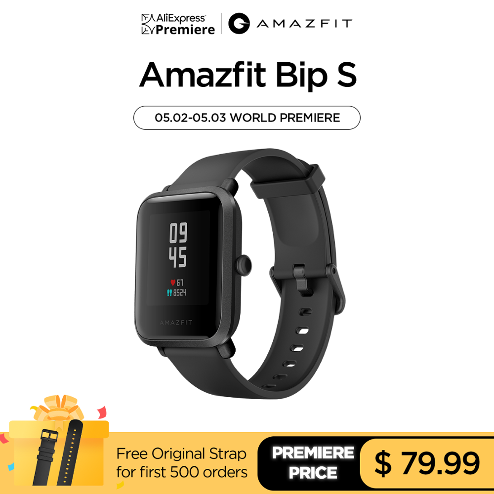 Aliexpress Premiere 2020 New Global Amazfit Bip S Smartwatch 5ATM GPS GLONASS Bluetooth Smart Watch