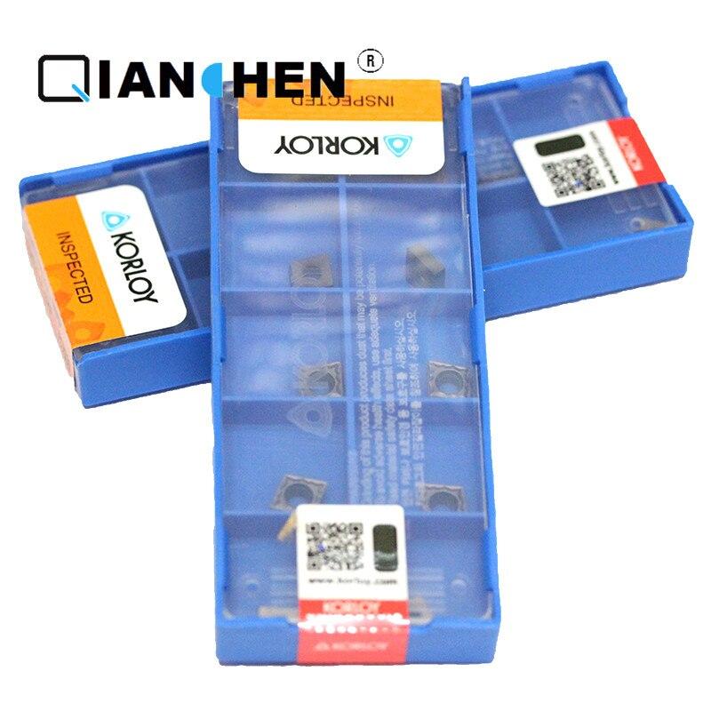 Genuine Original Korea Korloy CCMT060202 HMP PC9030 CCMT060204 HMP NC3120 (10pcs/lot) High Quality Internal turning tool Insert