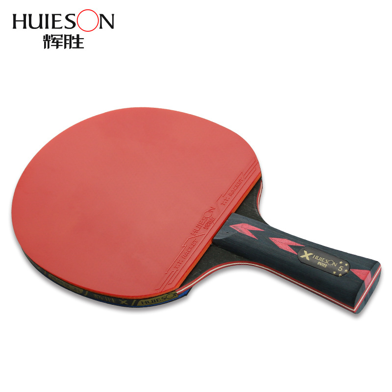 2Pcs/lot Carbon Table Tennis Racket Long Short Handle Ping Pong Paddle Racket With Case