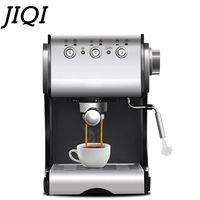 Cafetera de acero inoxidable JIQI 1.3L  cafetera de café Espresso  Espumador de leche de vapor 20BAR para comercial de alta calidad 220V