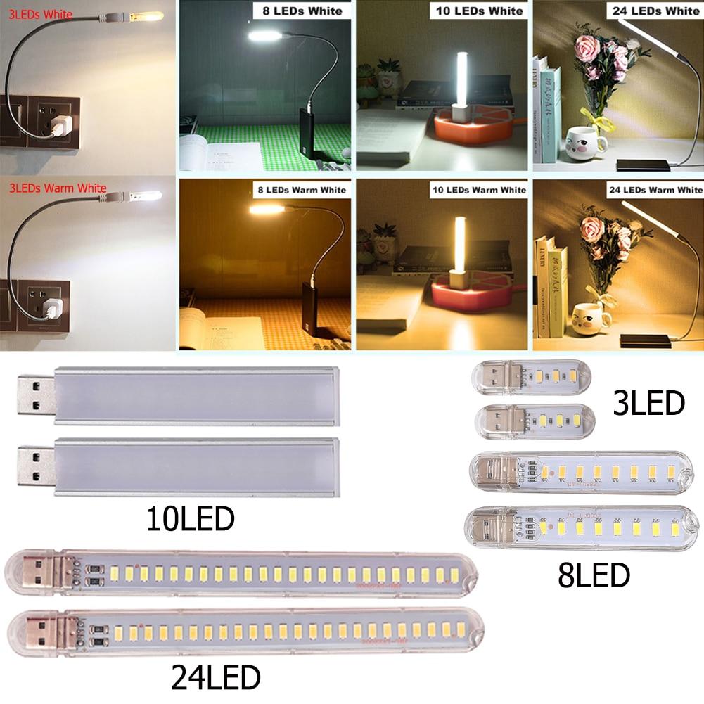 Lamp Bead USB Color Power LED Night Light Power Lamp Flexible Table Lamp Study Reading Bedside Bedroom Book Light Illumination