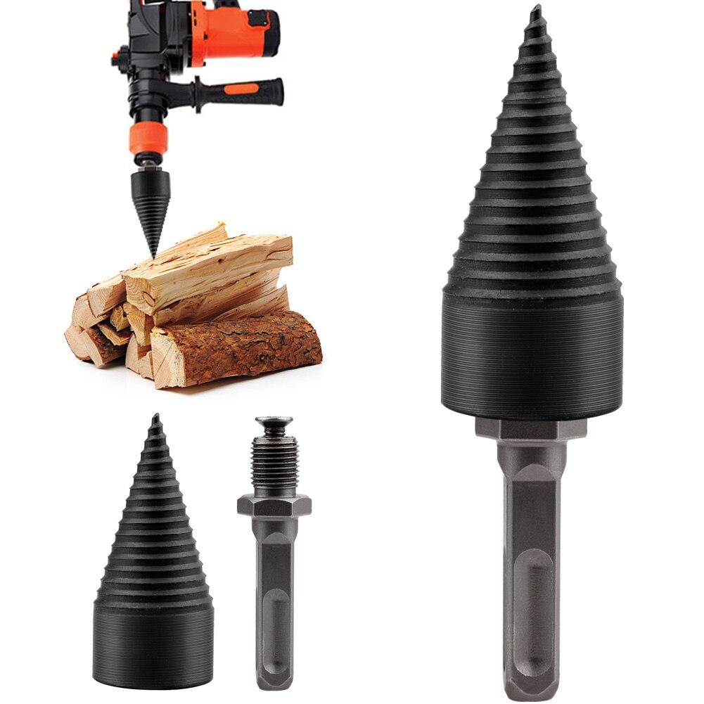 1pc 130x32mm Drill Bit Wood Breaker Firewood Chopper Firewood Machine Drill Wood Cone Reamer Punch Driver Split Drilling Tools N