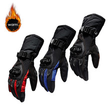 Nowe zimowe rękawice motocyklowe wodoodporne i ciepłe cztery pory roku jeżdżące motocyklista antypoślizgowe rękawice biegowe