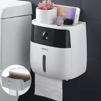 ECOCO naścienny podajnik ręczników papierowych pudełko na chusteczki do ręczników papierowych Multifold pojemnik na bibułkę szuflada produkt łazienkowy tanie i dobre opinie CN (pochodzenie) Nowoczesne Wiszące typu Z tworzywa sztucznego Paper Towel Holder Tkanki kanister Zdejmowane tkanki Support