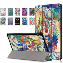 Case For Huawei MediaPad T5 10 AGS2-W09/W19/L09/L03 PU Leather Stand Tablet Cover Funda For Huawei Media Pad T5 Case + Pen mingfeng pu leather cover case for huawei t5 10 protective smart case for ags2 w09 l03 w19 10 1inch tablet pc case covers