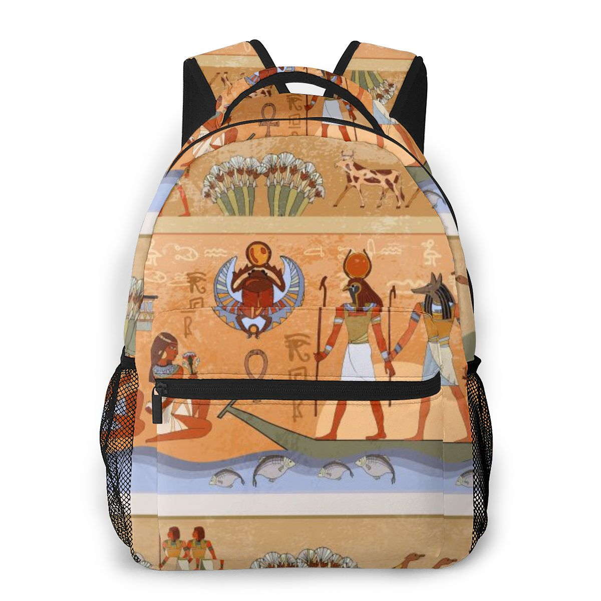Feminina para Meninas Egípcios e Faraó Mochila de Viagem Mochila Adolescentes Antigos Deuses Mural Feminino Notebook Bagpack 2020