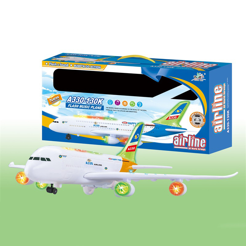 With Music Light Electric Universal Airliner Large Size Universal Air Bus Airplane CHILDREN'S Electric Toys