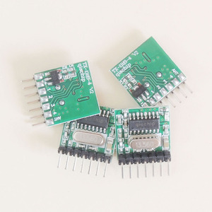 Image 5 - 433Mhz Superheterodyne RF Receiver and Transmitter Module with antenna for Arduino DIY Kit 4 Ch output With Learning Button