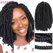 Bob Spring Twist Hair 8inch 1/6/8-9packs Dredlocks Crochet Hair Spring Twists Crochet Braids Tress Synthetic Braiding Extensions