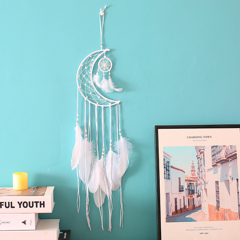 Moon Dream Catcher Color Decor Baby Room Decoration Wall Hanging Bedding Bumpers Kids Party Kids Girls Room Decor