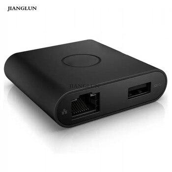 JIANGLUN New For Dell DA200 Adapter USB-C to HDMI/VGA/Ethernet/USB 3.0
