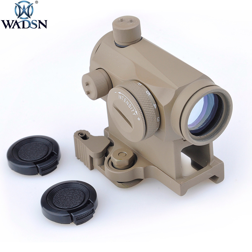 Wadsn Airsoft Tactical Mini 1X24 T1 Red Green Dot Sight Illuminated Sniper Riflescope QD Mount Low Mount Hungting Rifle Scope