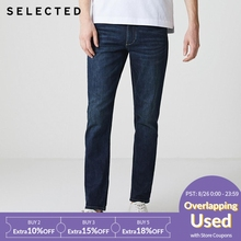 SELECTED Men Jeans Lycra Slight Stretch Vintage Slim Autumn & Winter Fit Denim Pants Streetwear Moustache Effect S|418332532 lee men s regular fit stretch jeans indigo