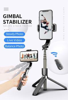L08 ręczny stabilizator telefonu do wszystkich smartfonów stabilizatory Gimbal bezprzewodowy statyw Bluetooth 3 In1 Selfie Stick Live Stream tanie i dobre opinie abay CN (pochodzenie) WIFI Pojedynczy Uchwyt 68 5 x 39 5 x 190~860mm Pakiet 1 White Black Youtobe Tiktok video call Anti-Shake