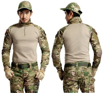 Brand Military Camouflage T Shirt Men Multicam Uniform Tactical Long Sleeve T-Shirt Airsoft Paintball Clothes Army Combat Shirt stylish camouflage round neck long sleeve t shirt for men