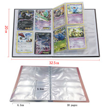 Pokemon Cards 240pcs Holder Album Toys for Children Collection Playing Trading Card Game Pokemon Album Book card collection album card album with 20 pages 2 sided 4pockets page card binder for board game trading cards