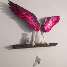 Garden Statue Sculpture Angel-Wings Wall-Decoration Home-Decor Living-Room Had Artwork
