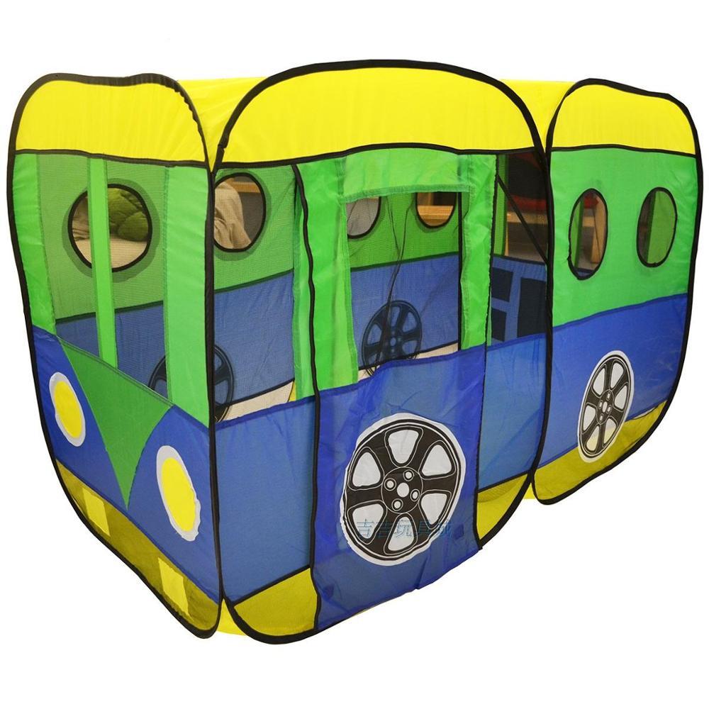 Tente pour enfants grande maison de bébé princesse intérieure jeu en plein air voiture Bus océan balle piscine jouets tissu pliable 2-4 ans
