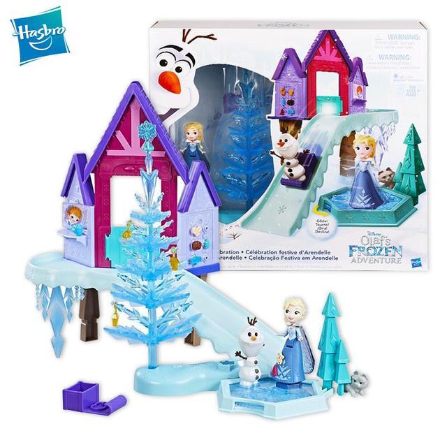 Hasbro Frozen Elsa Holiday Surprise Series Snow Scene Dream Castle Birthday Gift Toys for Girls C1919 1