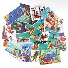 27 шт/много прибрежных творческий стикер для бумаги альбом Блокнот клейкая лента автомобиля камера украшения DIY граффити наклейки AT2880