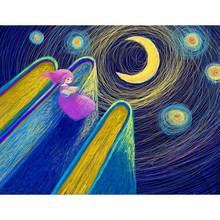Набор для рисования по номерам на холсте «Луна» 60 х75 см