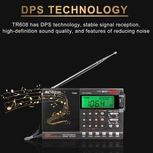 Image 4 - Retekess TR608 FM MW SW 라디오 에어 밴드 디지털 휴대용 여행 라디오 24 시간 시간 시계 수면 타이머