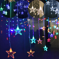 220V ICE Piton LED String Lights LED Curtain Light Outdoor Christmas Curtain Lights Star String Light Waterproof Christmas Light