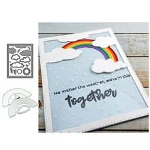 Rainbow Cloud Frame Metal Cutting Dies Stencils For Scrapbooking Album Paper Decorative Craft Embossing New 2019