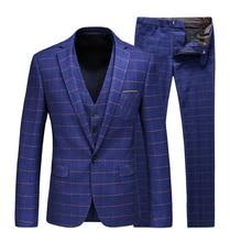купить Working Men Suits Wedding Party Suit for Men Vintage Mens Slim Fit Luxury Clothing Elegant Beach Business Sets 2019 Sexy Suits дешево