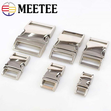 Meetee 2/4pcs 10-38mm Metal Side Release Curved Buckles for Paracord Bracelet Dog Collar Bags Belt Webbing Buckle Accessories